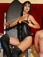 Leather Mistress on her throne