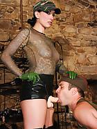 January Seraph uses horny sex slave