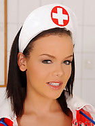 Naughty nurse and the needle dick