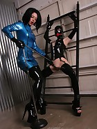Rubber Hooded Slave