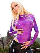 Getting Wet Rubber Girl