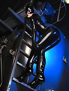 Sexy Cat Bitch poses in latex