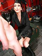 Sexy Bitch gives a smokey handjob