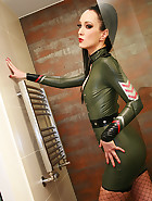 Sexy in military latex