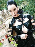 Dark Princess in shiny black PVC