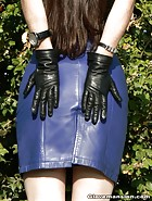 Amateur Asun teases in leather