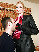 Leather secretary in charge