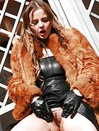 Russian Candy Alexa in fur smokes