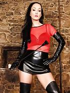 Elite Dominatrix in leather