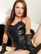 Horny Dominica in Leather