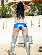 Booted Bikini Babe