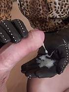 Luxury Leather Handjob