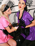 Kinky and hot rubber maid training, pic #1