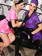 Kinky and hot rubber maid training, pic #2
