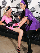 Kinky and hot rubber maid training, pic #5