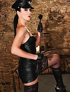 Military Domme in boots and spurs, pic #6