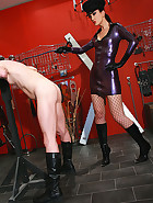 Strict and cruel rubber Mistress, pic #14