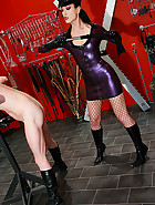 Strict and cruel rubber Mistress, pic #2