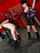 Strict and cruel rubber Mistress, pic #9