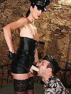 Military bitch loves sex in leather, pic #13