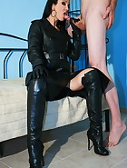 Leather sex with a messy cumshot, pic #5