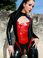 Hot and horny in my latex catsuit, pic #8