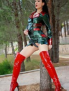 Mistress in glossy plastic outfit, pic #9