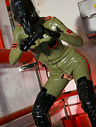 Masturbation in latex catsuit, pic #10