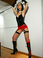 Sexy black and red latex lingerie, pic #4