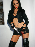 I love my vibrator and leather, pic #12