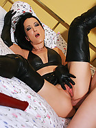 Real couple loves anal leather sex, pic #12