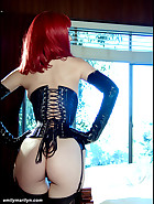 Fetish model in corset, pic #3