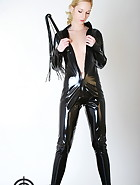 Black catsuit, pic #7