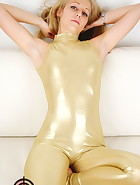 Golden catsuit, pic #3