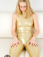 Golden catsuit, pic #5