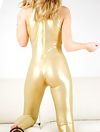 Golden catsuit, pic #10