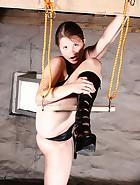 Latex girl playing, pic #12