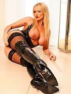 Black Latex and Thigh High Boots, pic #8