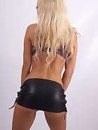 Tight Leather Mini Skirt, pic #2