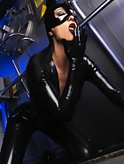 Sexy Cat Bitch poses in latex, pic #14