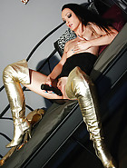 Masturbation in thigh high boots, pic #11