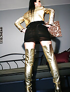 Masturbation in thigh high boots, pic #4