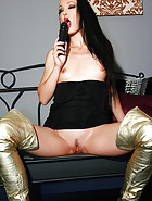 Masturbation in thigh high boots, pic #10