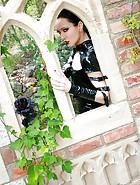 Dark Princess in shiny black PVC, pic #11