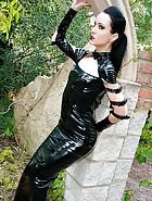 Dark Princess in shiny black PVC, pic #12