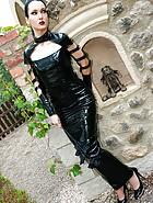 Dark Princess in shiny black PVC, pic #3