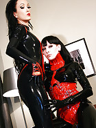 Playing with my latex slave girl, pic #2