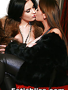 Classy ladies play in real furs, pic #11