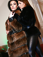 Classy ladies play in real furs, pic #4