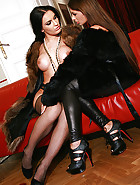 Classy ladies play in real furs, pic #10